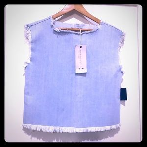 NWOT Marc by Marc Jacobs denim top; size SMALL